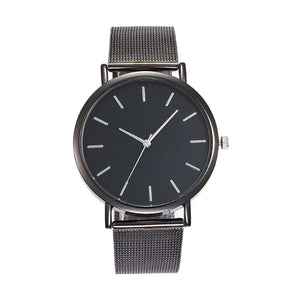 Cordelia Metallic Black Everyday Watch - Ferosh