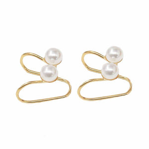 Ferosh Golden Pearls Ear Clip For Women - Drop Earrings Online