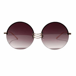 Ferosh Round Burgundy Sunglass For Women & Men  - Online Sunglasses