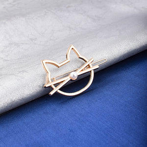 Demon Cat Face Hair Pin - Ferosh