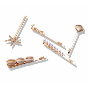 Delano Golden Beach Love 5 Hair Pins Set - Ferosh