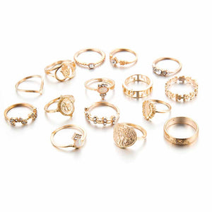 Ferosh Darcia Golden Ring Set