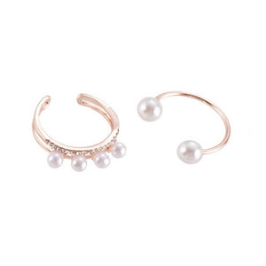 Ferosh Pearls Rose Gold Finger Ring For Women - Rings Online