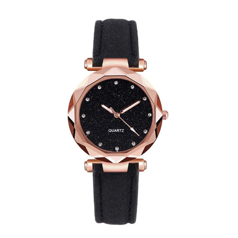 Eloise Sparkly Black Cocktail Watch - Ferosh