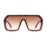 Eloy Brown Matrix Power Unisex Sunglasses - Ferosh