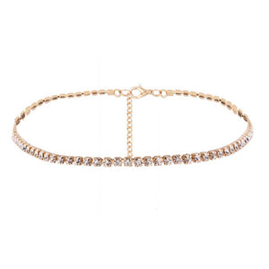 Ferosh Golden Rhinestone Choker - Buy Crystal Chokers Online For Women