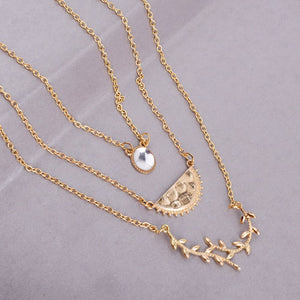 Ferosh Layered Golden Chain Necklace For Women - Necklace Online