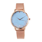 Everette Gleaming Golden Powder Blue Watch - Ferosh