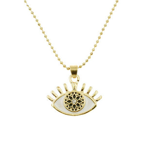 Ferosh Evil Eye Gold Necklace For Women - Necklaces Online