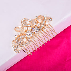 Elizabeth gold pearl hair pin - Ferosh