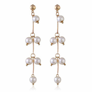 Ferosh Elise Pearl Drop Golden Earrings