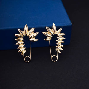 Ferosh Golden Pin Shape Earring for Womens - Earrings Online