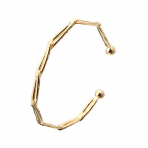 Edgy Yellow Gold Cuff Bracelet - Ferosh