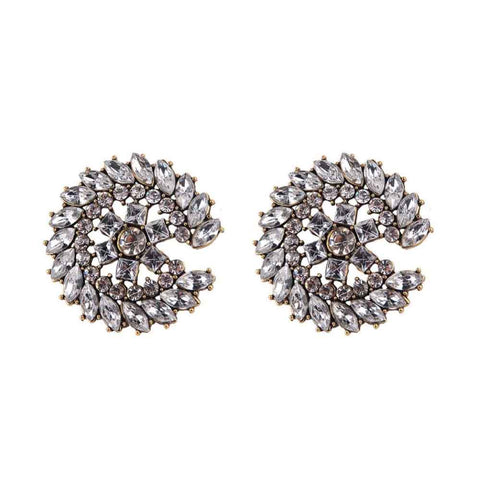 Ferosh Finella Crystal Floral Stud Earrings
