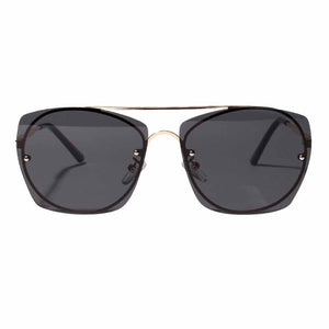 Faven Curved Square Black Aviators - Ferosh