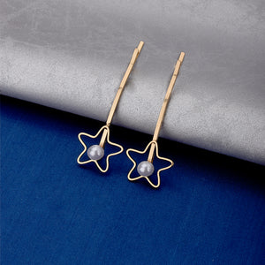 Floella Dual Pearls Star Hair Pins - Ferosh
