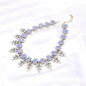 Faustino Grey Statement Necklace - Ferosh