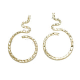 Ferosh Fanish Golden Serpent Earrings