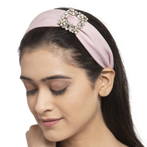 Light Purple Crystal Buckle Hairband