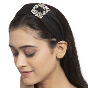 Black Crystal Buckle Hairband