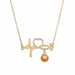 Ferosh Frieda Heartbeat Marine Pearl Shell Necklace