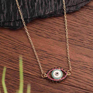 Multicolored Evil Eye Pendant
