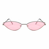 Pink Cat-Eyed Silver Shine Aviators - Ferosh
