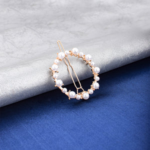Gomez Pearls Circle Hair Pin - Ferosh