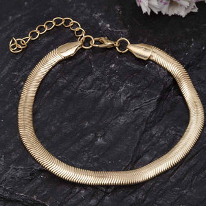 Helice Golden Metallic Anklet