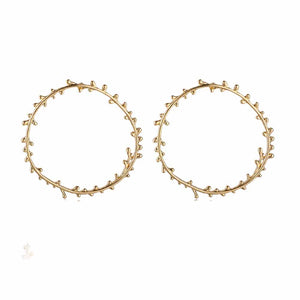 Ferosh Harper Open Circle Golden Earrings