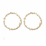Harper Open Circle Golden Earrings - Ferosh