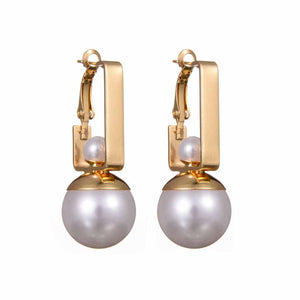 Ferosh Izel Royal Golden Pearl Drop Earrings