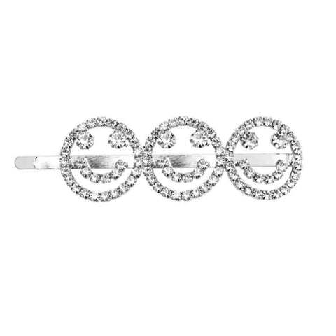 Smiley Diamond Studded Hair Pin - Ferosh