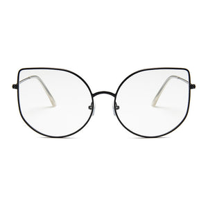 Kiki Cat-Eye Black Rim Transparent Aviators - Ferosh