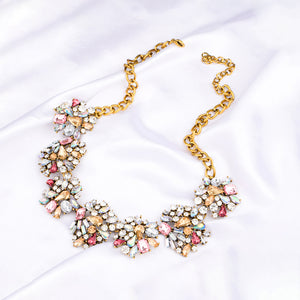 Kiana Rhinestone Statement Choker Necklace - Ferosh