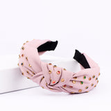 Lady belle knotted Pink structured headband - Ferosh