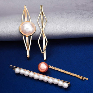 Lillie Pearl Golden 4 Hair Pin Set - Ferosh