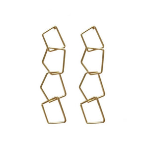 Ferosh Laurel Intertwisted Golden Drop Earrings