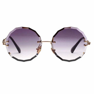 Quirky Round Earth Shaded Ombre Sunglasses - Ferosh