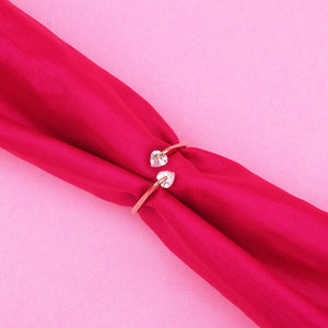 Ferosh RoseGolden Heart Stone Ring For Women - Rings Online