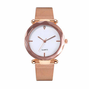 Lumina Golden-White Metal Strap Watch - Ferosh