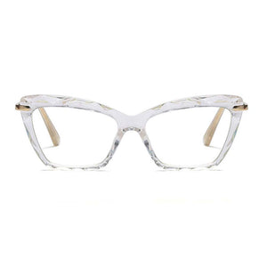 London White Geeky Cat-Eyed Glasses - Ferosh