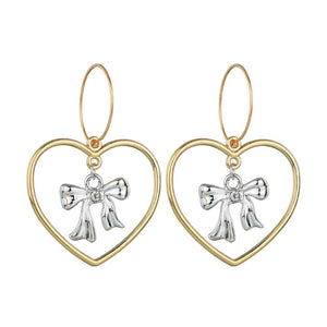 Ferosh Heart Golden Fashion Earrings For Women - Drop Earrings Online
