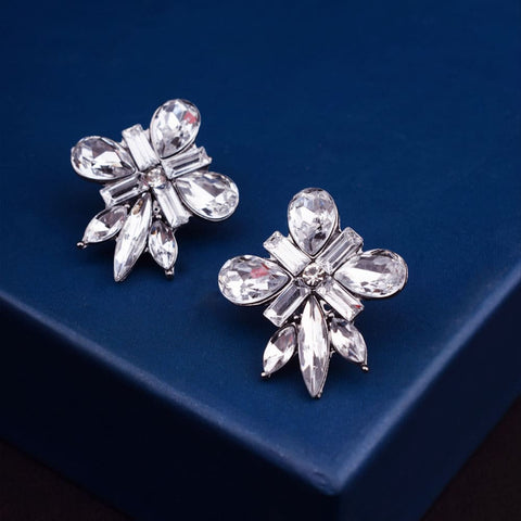 Mikelle Crystal Floral Earrings - Ferosh