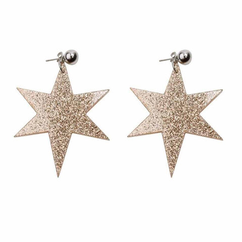 Mailie Dazzling Star Drop Earrings - Ferosh