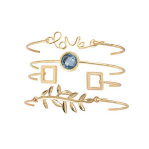 Milena Golden Love 4 Bracelets Set - Ferosh