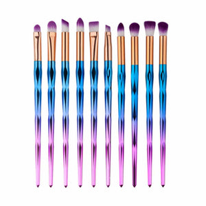 Metallic Magic 10 Pcs Eye Makeup Brush Set - Ferosh