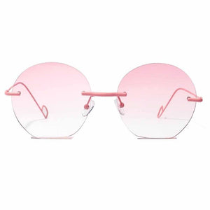 Ferosh Marella Pink Transparent Borderless Aviators