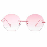 Marella Pink Transparent Borderless Aviators - Ferosh