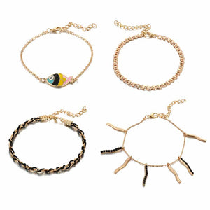 Ferosh Colourful Anklet Sets For Women - Anklets Online